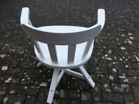 Ikea Feodor white wood swivel chair - bargain!