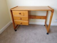 Child's Pine Desk - with drawers - Loughborough