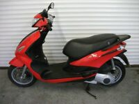 Piaggio Fly 125 3V ie 2014 64 Reg Red very low miles