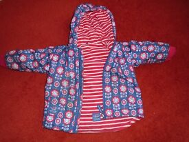 JoJo Maman Bebe reversible coat 3 -4 yrs