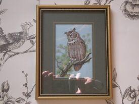 OWL - CASH'S WOVEN FINE SILK PICTURE