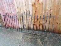 Iron gates 120cm each (240cm)