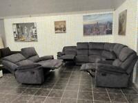 Harvey's grey recliner corner sofa with 2 seater sofa