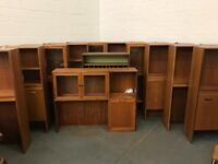 Loads to choose from.... Big Collection of G Plan Bookcases Bureaus and Display Cabinets Teak Retro
