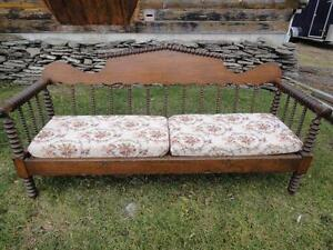 ANTIQUE SPOOL BED SOFA