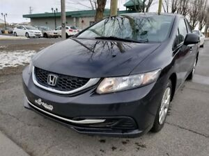2013 Honda Civic DX- MANUELLE 5 VITESSES- BAS MILLAGE!