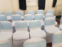 Chair Covers white or black and Table linen for Hire