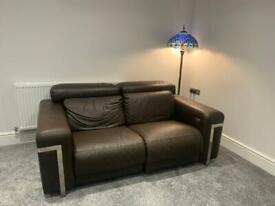 Sisi italia brown leather sofa