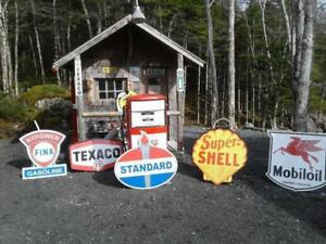 OLD SKOOL GAS OIL AND SERVICE SIGNS