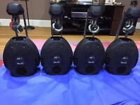 Martin Professional MX-1 Scanners X 4 (1 Crack Mirror) No Halogen Lamps