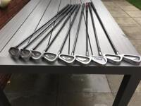 Focus Graphite Shafted Irons Regular Flex Shafts. 3-SW. Excellent Condition
