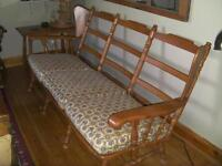 Roxton Mills solid Maple 3 seater couch 1960