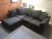 Grey Corner Sofa in Excellent Condition