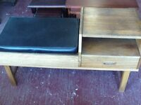 RETRO TELEPHONE TABLE with SEAT