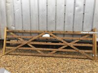 12ft Wide 5-Bar Quality Entrance Gate + Strong Posts + Cast Hinges + Catches - Brand New
