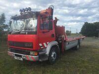 recovery truck leyland daf tilt and slide+crane+spec+winch