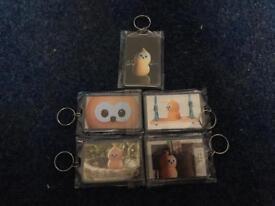 5 EDF Zingy toy keyrings.