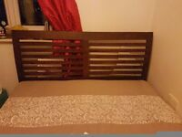 Double bed and a toddler bed