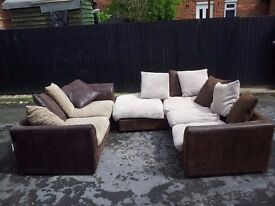 corner sofa and 3 seats sofa, very clean, from a smoke free home and not pet.