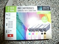 One set of printer ink cartridges for Canon Pixma 525 / 526