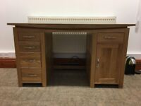 Office clearance. 2 x corner desks, chairs and pedestals. Also one solid oak home office desk.