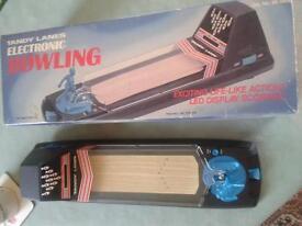 Very Rare Vintage/Retro Tandy Lanes electronic Bowling game *original box* very good condition