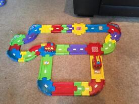 Toot toot track and x2 fire engines