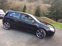 2007 VOLKSWAGEN GOLF MATCH TDI 105 BLACK, AUDI S LINE ALLOYS, 12 MONTHS MOT
