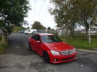 MERCEDES BENZ C CLASS C180K AMG SPORT AUTO FIRE OPAL RED (LOW MILES) C63 C220 C250