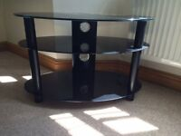 TV stand / table made of black glass