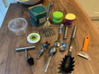 Kitchen utensils and storage