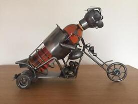 Bottle holder - Metal motorbike