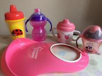 Various girls toddler cups