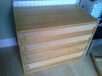 PINE CHEST OF DRAWERS STURDY GOOD CONDITION