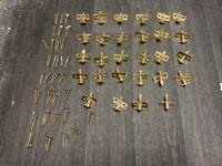 28 brass sash window bead screws with screws