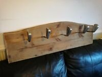 Vintage golfers coat rack