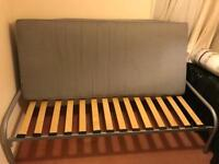 Used Single bed frame for sale with free mattress