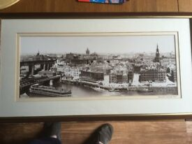 NEWCASTLE QUAYSIDE 1920 FRAMED PICTURE