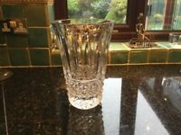 Heavy cut glass vase for sale