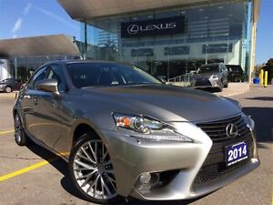 2014 Lexus IS 250 1 Owner Navi Lthr AWD Btooth Sroof BUcam