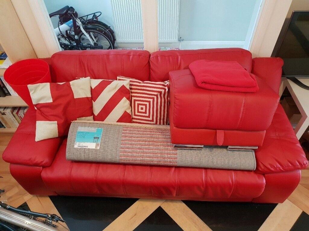 Leather Sofa Foot Stool Rug N More