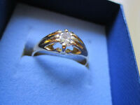 "18ct Solid Gold Diamond Ring about .50ct and Finger Size ""U"" Gents or Ladies"