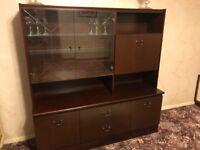 Dresser Furniture Dark Mahogany Colour