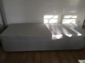2 single divan mattresses making up a king bed £60
