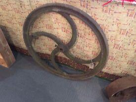 Big iron wheel for garden decoration