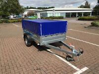 Brand new Faro Tractus 2,36cm side 35 cm car box trailer 750kg with mesh side and cover