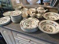 Indian tree tea and dinner service