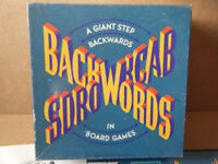 Vintage (BACKWORDS) strategy & luck board game. Random House games 1988. Complete