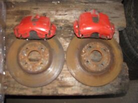 Ford Focus ST170 Front Brake Calipers With Discs & Pads Escort RS2000 Upgrade
