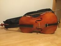 3/4 Cello Musima Instrumentenbau with bow and Hidersine case